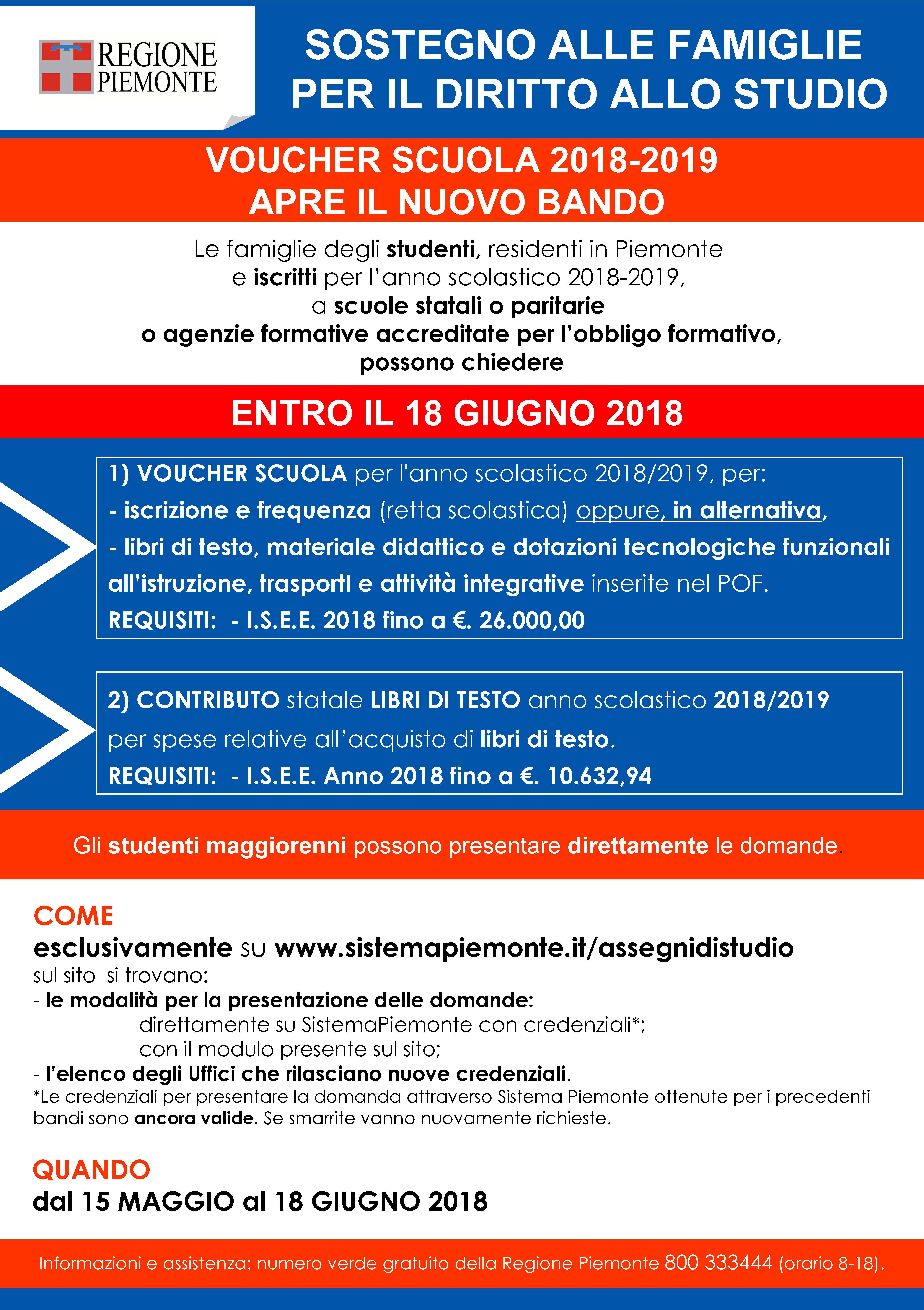 Calendario Scolastico 2019 E 2020 Piemonte.Comunicazione Della Regione Piemonte Sul Bando Voucher
